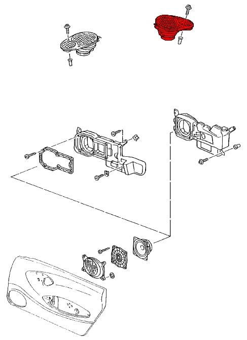 speaker assembly 9966450360201c - genuine porsche