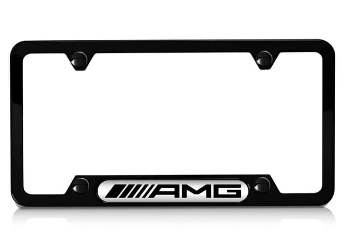 License plate frame with amg logo for Mercedes benz license plate logo