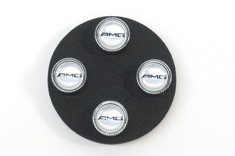 Genuine  Tire Valve Stem Caps Amg Logo Q-6-40-8127