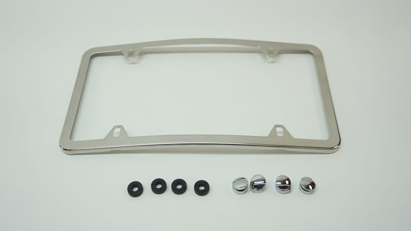 Mercedes Curved Front Slimline License Plate Frame Genuine