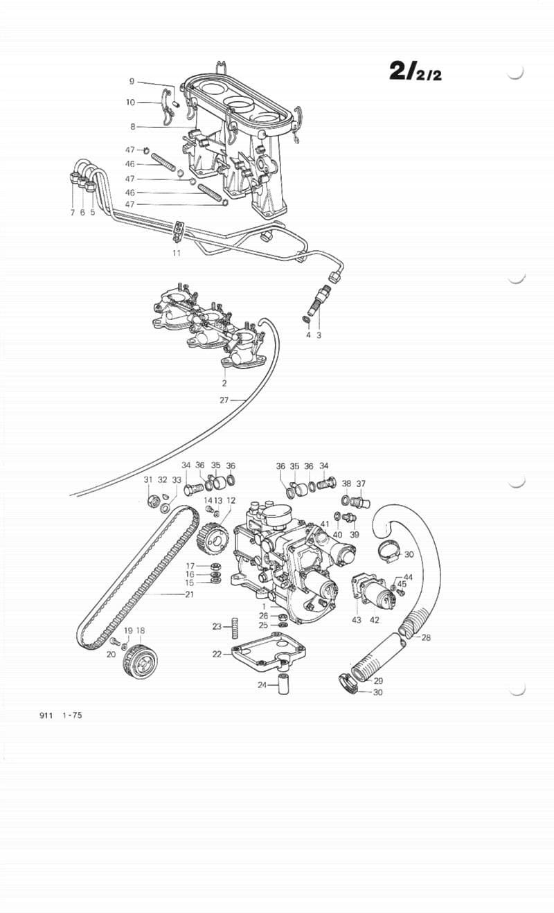 Porsche 911 Bosch Mechanical Fuel Injection Overview 1965 89 Gauge Wiring Diagram Schematic Mfi System